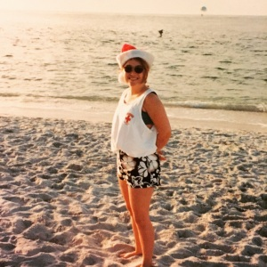 Me. Christmas 1998 in Florida at the age of 25. Sans family.
